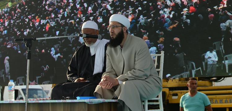 Faslı Alim Seyid Abdurrahman Habib Şattu dua etti.